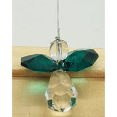 Swarovski crystal Angel Suncatchers -  Dark Green Wings