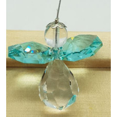 Swarovski crystal Angel Suncatchers - Turquoise