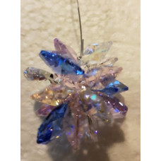 Swarovski crystal Starburst Suncatchers - Lilac, Yellow & Dark Blue
