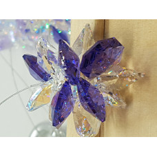 Swarovski crystal Starburst Suncatchers - Purple