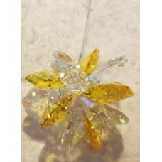 Swarovski crystal Starburst Suncatchers - Yellow - Dark