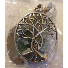 Agate Slice - Tree - Aquamarine