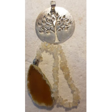 Agate Slice - Tree - Citrine