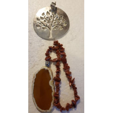Agate Slice - Tree - Red Goldstone